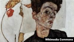 Еґон Шіле «Автопортрет»