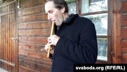 Алесь Жамойцін, загадчык музэю Багушэвіча ў Кушлянах