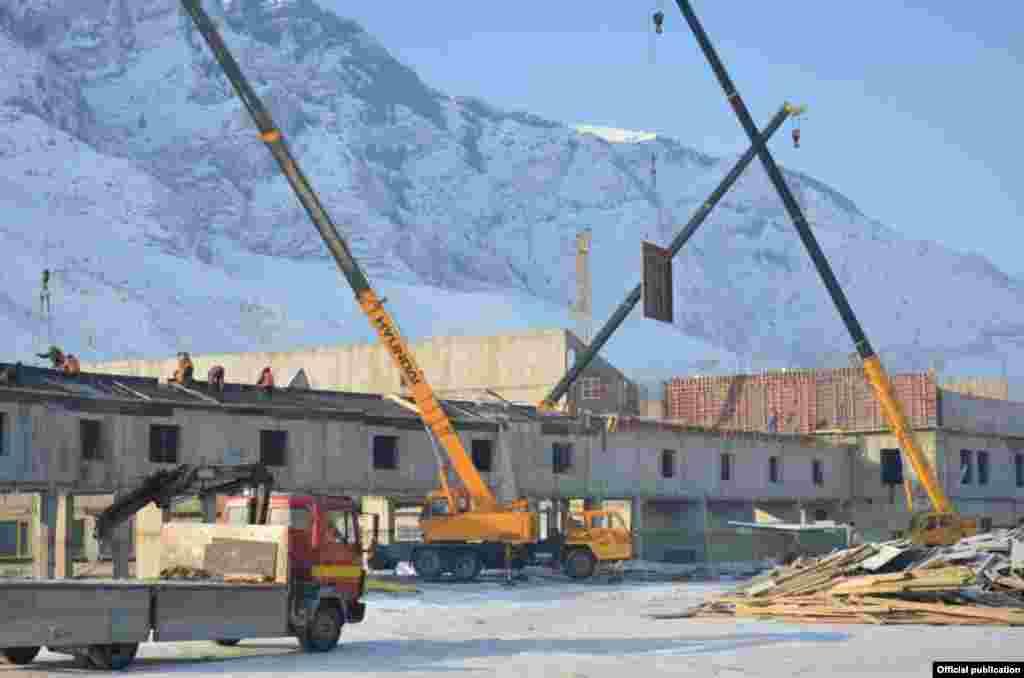 Kyrgyzstan-Naryn Campus Construction Progress, 12Feb2015