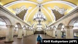 Metroul de la Moscova pe timp de pandemie, 3 aprilie 2020