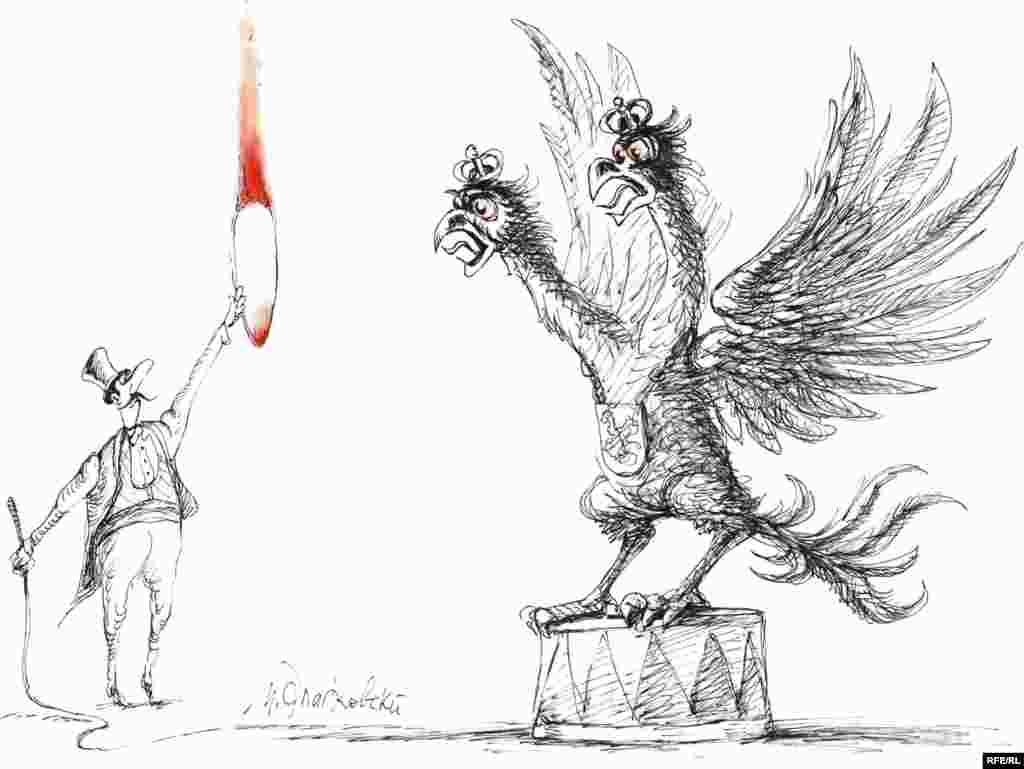 """Михаил Златковский, """"Не выйдет! И не войдет"""". Недавняя попытка американского вице-президента Джо Байдена поставить Россию на колени встречена художником с негодованием"""