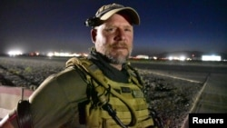 NPR photojournalist David Gilkey is pictured at Kandahar airfield in Afghanistan on May 29.