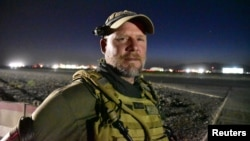 NPR photojournalist David Gilkey is pictured at Kandahar Airfield on May 29.