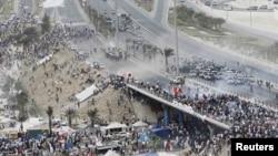 Bahreýniň paýtagty Manamadaky protestler, 13-nji mart.