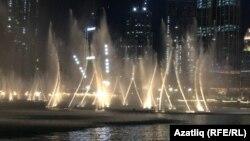 Дубайда хәтта фонтаннар да бии