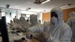 Zarfet nga Serbia verifikohen me maska