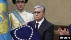 Касым-Жомарт Токаев после принесения присяги и вступления в должность президента Казахстана. Астана, 20 марта 2019 года.