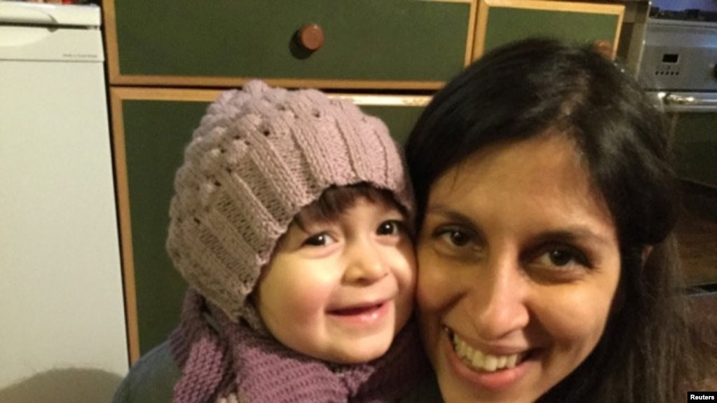 نازنین زاغری رتکلیف، شهروند ایرانیبریتانیایی زندانی در ایران به همراه دخترش گیسو