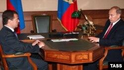 Президент Дмитро Медведєв і прем'єр-міністр Володимир Путін у Кремлі