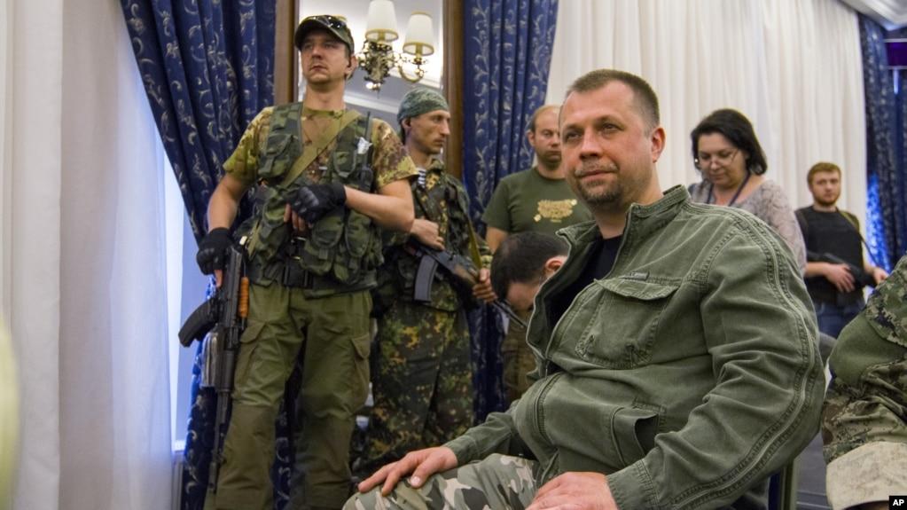 Александр Бородай, гражданин России, в то время один из главарей группировки «ДНР». Оккупированный Донецк, 24 мая 2014 года
