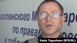 Сергей Дуванов, журналист и правозащитник. Алматы, 6 февраля 2015 года.