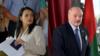 Светлана Тихановская мен Александр Лукашенко.