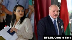 Светлана Тихановская ва Александр Лукашенко