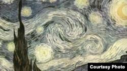 Винсент Ван Гог. «Звездная ночь» (фрагмент). Период Сен-Реми, 1889 г., Музей Современного Искусства, Нью-Йорк