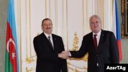 Azərbaycan prezidenti İlham Əliyev və Çexiya prezidenti Milos Zeman, Praqa ,24 aprel 2014