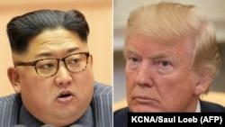 Հյուսիսային Կորեայի ղեկավար Կիմ Չեն Ունը և ԱՄՆ նախագահ Դոնալդ Թրամփը, արխիվ