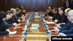 Встреча Эмомали Рахмона с Генеральным секретарем ООН Антониу Гутерришем. Нью-Йорк, 21 марта 2018 года