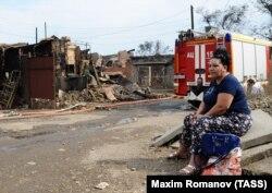 Последствия крупного пожара в центре Ростова-на-Дону
