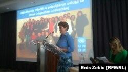 Voditeljica Ureda UNDP u Hrvatskoj Louise Vinton na dodjeli nagrada volonterima, 12. lipanj 2013.