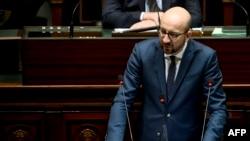 Шарль Мішель виступає в бельгійському парламенті, 19 листопада 2015 року