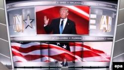 Дональд Трамп виступает на съезде Республиканской партии, Кливленд, США, 18 июля 2016 года