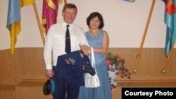 Полковник Юлій Мамчур з дружиною