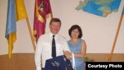 Полковник Юлій Мамчур з дружиною Ларисою