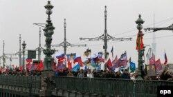 """Вчерашний """"Русский марш"""" в Петербурге"""
