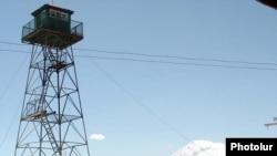 Armenia -- A border-guard watchtower on the Armenian-Turkish frontier.