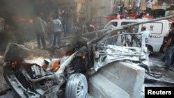 Знищена вибухом машина, 15 серпня 2013 року