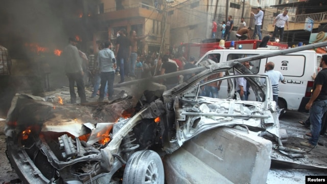 A car bomb hit a Hizballah stronghold in Beirut on August 15.