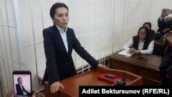 Аида Салянова в суде.