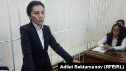 Аида Салянова, Қырғызстан парламентінің депутаты, бұрынғы бас прокурор және әділет министрі. Бішкек, 10 қазан 2017 жыл.