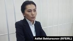 Қырғызстан депутаты Аида Салянова сотта отыр. Бішкек, 10 қазан 2017 жыл.