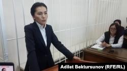 Аида Салянова в зале Ленинского райсуда. 10 октября 2017 года.
