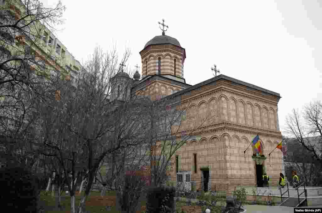 Mihai Voda Orthodox Church in its new location in Bucharest. Romanians paid homage to Iordachescu at the church on January 6, two days after he died from a heart attack.