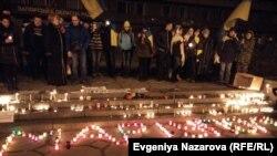 Каза болгондорду эскерүү. Украина, 25-январь, 2015-жыл.