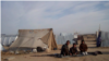 Some displaced residents are forced to live in tents during winter.