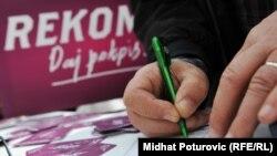 Prikupljanje potpisa za REKOM, april 2011.