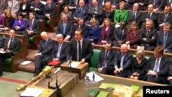 Fostul premier David Cameron la o sesiune a Parlamentului, la Londra