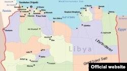 د لیبیا نقشه