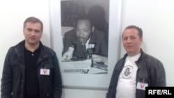 ადვოკატები დიმიტრი გაბუნია (მარჯვნივ) და პაატა სალია რადიო თავისუფლებას ესტუმრნენ