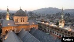 Fotografi arkivi e pjesës së vjetër të qytetit të Damaskut