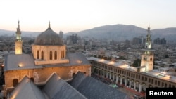 A general view of the historical Umayyad mosque in old Damascus city . File photo