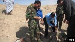 جانب من احدى المقابر الجماعية في العراق