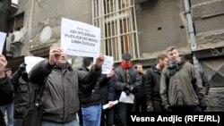 Protest zbog pomena Nediću