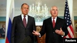 Сергей Лавров и Рекс Тиллерсон (Вашингтон, 10 мая 2017 г.)