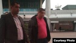 Сын Мираглама Мирзаева, Абдурашид Мирзаев (справа), являющийся экс-начальником отдела по борьбе с терроризмом и организованной преступностью Ташкентского областного управления ныне бывшей Службы национальной безопасности (ныне Служба государственной безопасности) был задержан в аэропорту при попытке побега из страны.