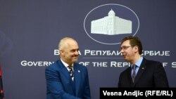 Edi Rama i Aleksandar Vučić u Beogradu 2014. godine