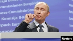 "Russian Prime Minister Vladimir Putin has described the EU's proposed energy market regulations as ""no better than terrorism."""